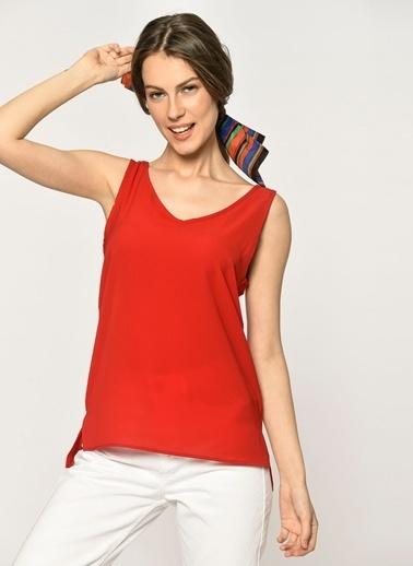Loves You Kalın Askılı Bluz Kırmızı